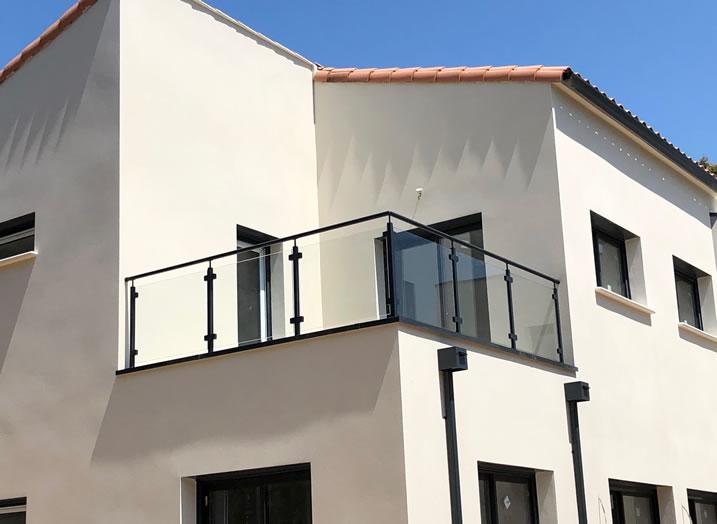garde-corps verre terrasse