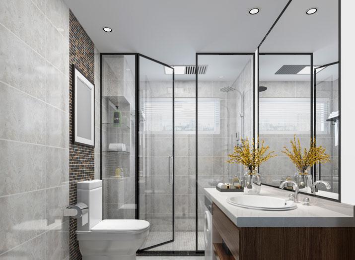 Paroi verre Salle de bain